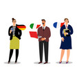 international business team isolated on vector image vector image