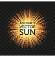 Isolated abstract round shape shining sun vector image