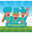 kazakhstan football support vector image