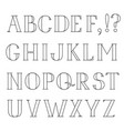 latin alphabet grunge line font hipsters character vector image vector image
