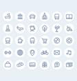 line icons on white pictograms for maps vector image vector image