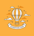 linear air balloon on orange background vector image