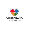 love puzzle design logo design template vector image vector image