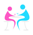 lovers in a cafe vector image vector image