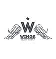 luxury wings emblem vector image vector image