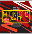 midnight sale hottest deal square banner vector image