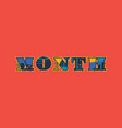 month concept word art vector image vector image