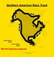northern american track background vector image vector image