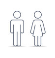 outline couple man and woman vector image vector image