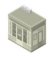 pharmacy street shop icon isometric style vector image