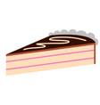 piece of birthday cake icon vector image