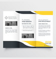 professional yellow black modern trifold brochure vector image