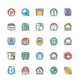 Real Estate Cool Icons 4 vector image vector image