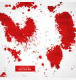 red blood splatter stain collection vector image vector image