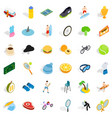 sea icons set isometric style vector image vector image