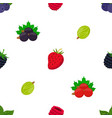 seamless pattern of cartoon berries vector image vector image