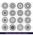 set of decorative ethnic mandalas outline vector image