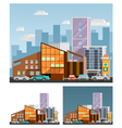 Shopping Mall Orthogonal Compositions vector image vector image