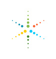 Six rays round particles colorful star logo vector image vector image
