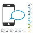 smartphone message balloon icon vector image vector image