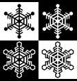 snowflake symbols icons simple black white set 10 vector image vector image