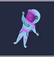 spaceman character astronaut flying in space vector image
