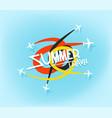 summer travel concept lettering logo vector image vector image