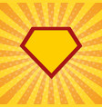super hero rays halftone background vector image