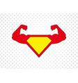 superhero icon strong man icon with halftone dots vector image vector image