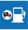 tank truck oil industry gasoline vector image vector image