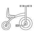 tricycle icon outline style vector image vector image
