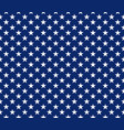 usa style seamless pattern white stars on blue vector image