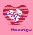 Valentine day one hearts bow vector image vector image