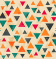 vintage colored triangle pattern with grunge vector image vector image
