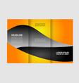 wave blue design template for tri-fold brochure vector image