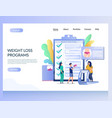 weight loss programs website landing page vector image