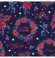 Wreath Christmas Night Flowers Bells vector image