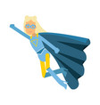 young blonde woman in classic blue superhero vector image vector image