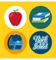 icon set back to school vector image
