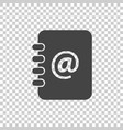 address book icon email note flat on isolated vector image