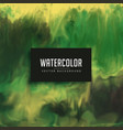 awesome green watercolor texture background vector image