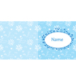 Baby card blue colors with rabbit and flowers vector image