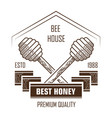 bee house isolated icon honey product and apiary vector image vector image