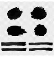black blot isolated transparent background vector image vector image