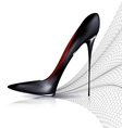 black shoe and veil vector image vector image