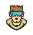 bodyguard security guard cartoon vector image