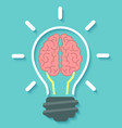 Brain and Idea Concept vector image vector image