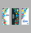 bright drops paint universal design roll up on vector image vector image