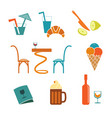 cafe icons set for web vector image vector image