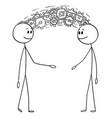 cartoon two men or businessmen sharing vector image vector image